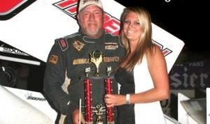 Randy Martin won Sunday's sprint-car finale at Double X Speedway in Missouri. (Double X Speedway Photo)