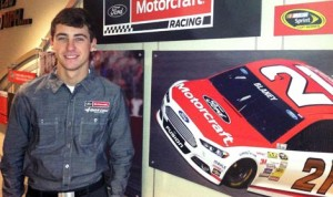Ryan Blaney will drive the Wood Brothers Racing No. 21 Ford part-time in the NASCAR Sprint Cup Series in 2015. (Wood Brothers Photo)