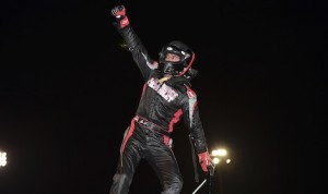 Aaron Pierce won Saturday's Must See Xtreme Sprint Car Series feature at Anderson Speedway. (Chris Seelman photo)