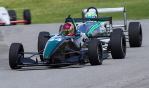Sam Beasley (44) on his way to winning Sunday's F2000 Championship Series event at the  Pittsburgh Int'l Race Complex. (F2000 Photo)