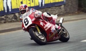 Carl Fogarty riding an RC30 at the 1990 Isle of Man TT. (IOM TT Photo)