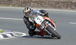 Michael Dunlop during the 2013 Formula One Classic TT Race on the Isle of Man. (Dave Kneen Photo)