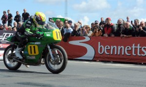 Ian Lougher rode to victory in Saturday's Bennetts 500cc Classic TT Race on the Isle of Man. (IOM TT Photo)