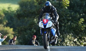 Billy Redmayne claimed the Manx Grand Prix Newcomers race on the Isle of Man course Tuesday. (Dave Kneen Photo)