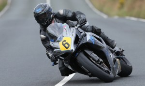 Andy Soar was declared the winner of the Full Factory Winners Wear Senior Manx Grand Prix race after a red flag stopped the event after two laps. (Dave Kneen Photo)