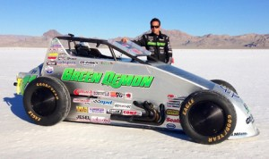 Damion Gardner returns to the Bonneville Salt Flats in Utah this week in the hopes that he can break the 200 mph barrier aboard his Green Demon sprint car. (Surf N' Sprint Photo)