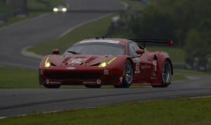 Pierre Kaffer and Giancarlo Fisichella scored a thrilling victory for Ferrari Sunday at Virginia Int'l Raceway. (Richard Dole/LAT Photo)