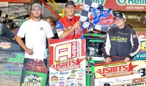 Stormy Scott drove to victory in Thursday's United States Modified Touring Series feature at 81 Speedway. (Randy Lane Photo)