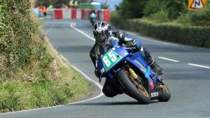 The Isle of Man Manx GP's SuperTwins race was an eventful on on Wednesday. (IOM photo)