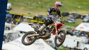 GEICO Honda's Ryan Bisceglia won motocross rookie of the year honors. (GEICO Honda photo)