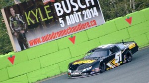 Kyle Busch controlled the PASS Super Late Model field in Quebec on Tuesday. (KBM photo)