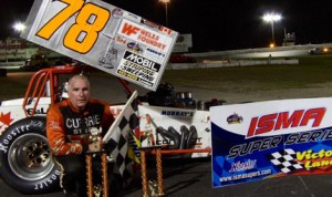 Mark Sammut ended a lengthy victory drought in the International Supermodified Ass'n Saturday at Waterford (Conn.) Speedbowl. (ISMA Photo)