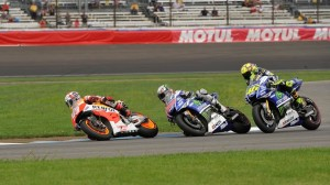 With his win Sunday at Indianapolis, Marc Marquez is 10-for-10 in MotoGP this season. (Ginny Heithaus photo)