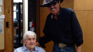Seven-time NASCAR premier series champion Richard Petty recently spent the day with 98-year-old race fan Henry Jakes. (Richard Petty Foundation photo)