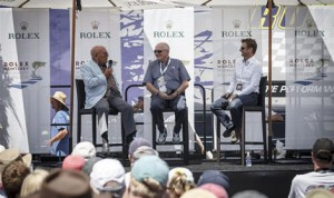 Sir Stirling Moss (left) was a special guest during the Rolex Monterey Motorsports Reunion on Saturday.