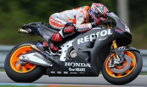 Marc Marquez during testing Monday at the Brno Circuit in the Czech Republic. (Repsol Honda Photo)