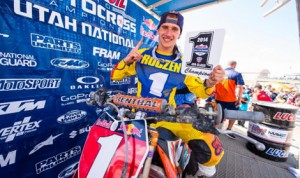 Ken Roczen locked up his first Lucas Oil Pro Motocross championship Saturday in Utah. (Simon Cudby Photo)