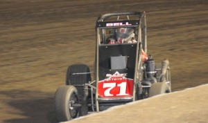 Christopher Bell won Sunday's Vermeil Classic midget feature at Calistoga Speedway. (Tom Parker photo)