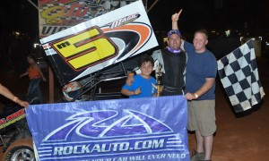 Mike Magic claimed the USCS 600 Sprint Series victory Sunday at Toccoa Speedway in Georgia. (Chris Seelman Photo)