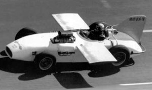 DAYTONA FLYER: Built by Bob Osiecki, the Mad Dog IV reached a top speed of 181.561 mph with Art Malone behind the wheel at Daytona Int'l Speedway. (Bob Gates Photo Collection)