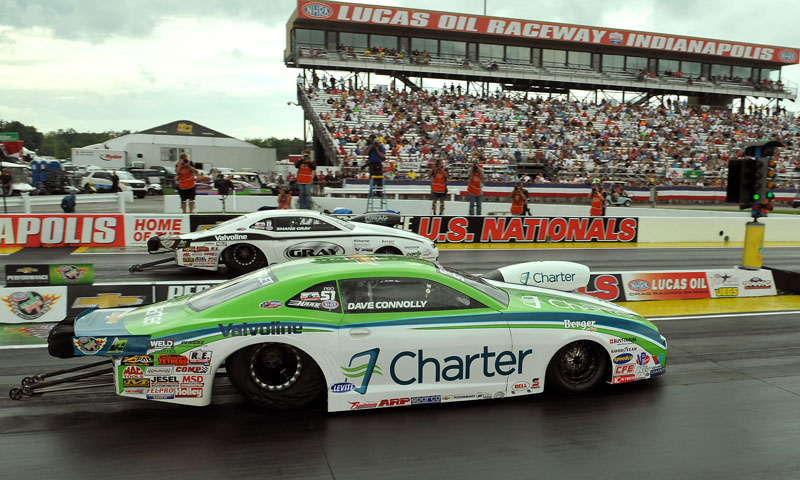 Dave Connolly Shane Gray Nhra Pro Stock U S Nationals Final Speed