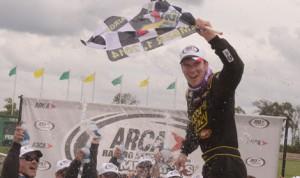 Grant Enfinger won Monday's ARCA Racing Series Southern Illinois 100 at DuQuoin State Fairgrounds. (Ken Simon photo)