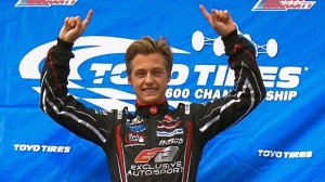 Tristan DeGrand had a lot to celebrate in 2014. (Toyo Tires F1600 Championship photo)