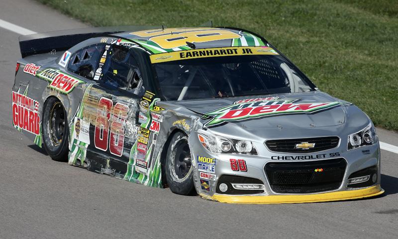 Dale Earnhardt Jr  Damaged Sprint Cup Kansas Speedway