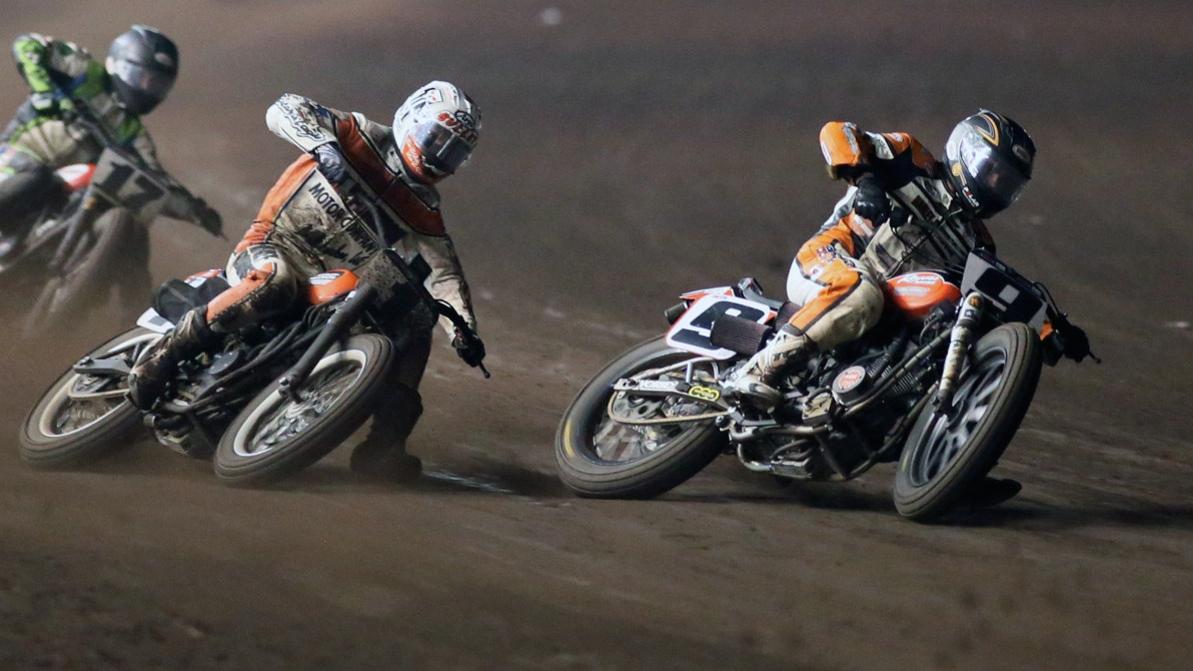 ama pro flat track racers tackle barcelona speed sport