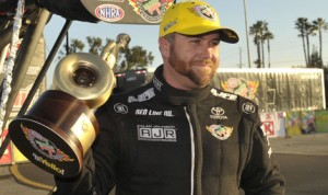 Shawn Langdon has inked a contract to remain with Don Schumacher Racing in 2016 after joining the team for the Countdown to the Championship in 2015. (NHRA Photo)