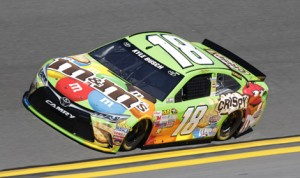 Kyle Busch on track during Daytona 500 practice. (HHP/Harold Hinson Photo)