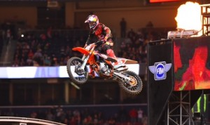 Ryan Dungey won his sixth Monster Energy Supercross race of the season Saturday in St. Louis. (Simon Cudby photo)