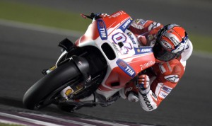 Andrea Dovizioso has earned the pole for Sunday's MotoGP opener in Qatar. (Ducati Photo)