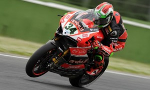 Davide Giugliano raced to the Tissot-Superpole on Saturday in Italy. (Aruba.it Racing – Ducati Superbike Team Photo)