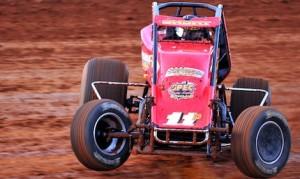 Brady Short won Friday's Josh Burton Memorial at Bloomington (Ind.) Speedway. (Kent Steele photo)