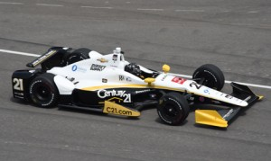Josef Newgarden became the second driver to flip his race car in as many days on Thursday at Indianapolis Motor Speedway. He was thankfully unhurt. (IndyCar Photo)