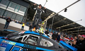 Nicolò Rocca celebrates after claiming his first NASCAR Whelen Euro Series ELITE 1 class victory on Saturday at Raceway Venray. (NASCAR Photo)