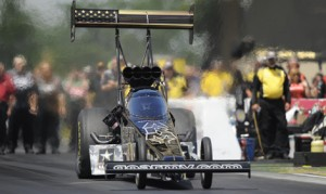 Tony Schumacher is looking to match Joe Amato in NHRA Top Fuel victories at Washington's Pacific Raceways this weekend. (NHRA Photo)