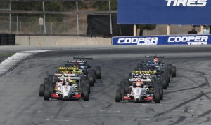 The Cooper Tires USF2000 Championship field prepares to go racing at the start of Sunday's season finale at Mazda Raceway Laguna Seca. (USF2000 Photo)