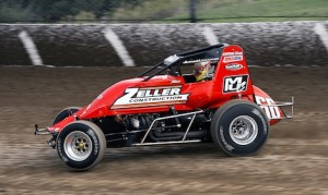 Thomas Meseraull earned his first USAC sprint car victory Saturday night at Ohio's Eldora Speedway. (Mike Campbell photo)