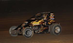 Brady Short won Saturday's Haubstadt Hustle USAC Sprint Car race at Tri-State Speedway. (Doug Vandeventer photo)