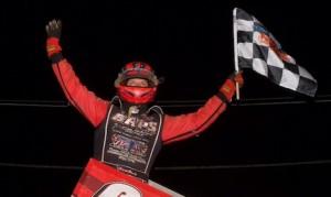 Brent Marks won Sunday night's Tuscarora 50 at Pennsylvania's Port Royal Speedway. (Dan Demarco photo)