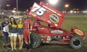 Sean Becker won the Civil War Sprint Car Series feature on Wednesday night at Silver Dollar Speedway. (Joe Shivak Photo)