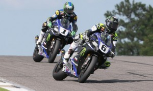 Cameron Beaubier (6) takes an 18-point lead over his teammate Josh Hayes (1) into the MotoAmerica season finale at New Jersey Motorsports Park. (Brian J. Nelson Photo)