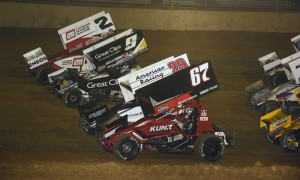 The World of Outlaws Sprint Car Series, seen here at Lawrenceburg Speedway, will again return at The Dirt Track at Las Vegas Motor Speedway. (Mark Funderburk Photo)