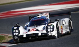 Three drivers tested the Porsche 919 Hybrid at the Circuit de Catalunya on Tuesday. (Porsche photo)