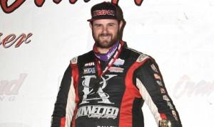 Robert Ballou, seen here last year, suffered a broken neck during a crash Saturday at Calistoga Speedway. (Dan Demarco photo)