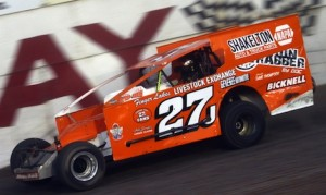 Danny Johnson won Saturday's The Gobbler modified race at New York's Accord Speedway. (Dave Dalesandro photo)