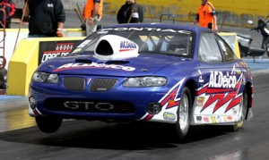 Les Heintz won the Super Stock portion of the Rowe Memorial once again on Sunday in round six of the Summit Racing Equipment Sportsman Series at Calder Park Raceway. (Outlaw Images Photo)