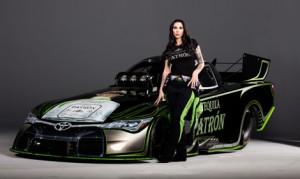 Alexis DeJoria will run a green and black Patrón paint scheme during the 2016 NHRA Mello Yello Drag Racing Series season.